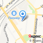 Лазурит на карте Барнаула
