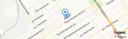 На Партизанской на карте Барнаула