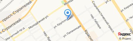 Пять Плюс на карте Барнаула