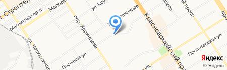 Голос труда на карте Барнаула