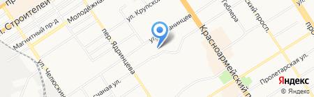 НСТ на карте Барнаула