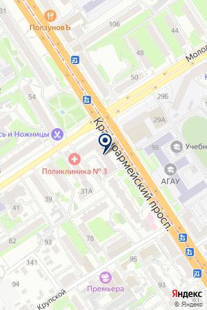 АЙТИШНИК на карте Барнаула
