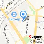 Интер на карте Барнаула