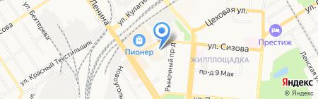 Магнолия на карте Барнаула