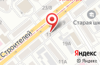 Схема проезда до компании Теплоснаб в Барнауле