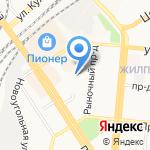 Магазин мебельной фурнитуры на карте Барнаула