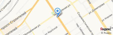 Душка на карте Барнаула
