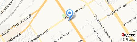 Сувениры и подарки на карте Барнаула