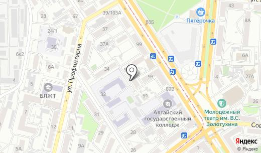 Кот и Пёс. Схема проезда в Барнауле