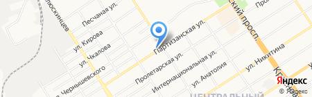 Жигули на карте Барнаула