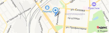 Электроник на карте Барнаула