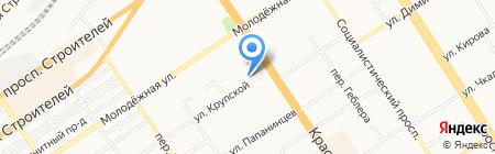 На Крупской на карте Барнаула