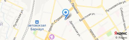 Техно на карте Барнаула
