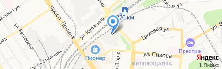 Пионер на карте Барнаула