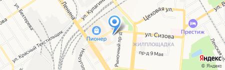 Киоск по продаже яиц на карте Барнаула