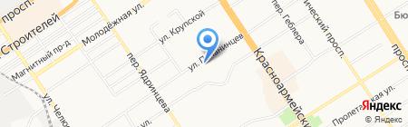 Краевой центр дистанционного образования детей-инвалидов на карте Барнаула