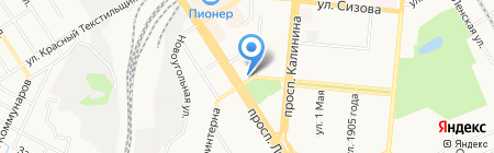Пирошоу-Алтай на карте Барнаула