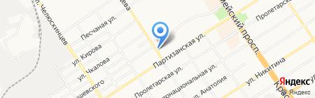 Хмельная Пятница на карте Барнаула
