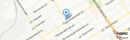 Мастерс на карте Барнаула