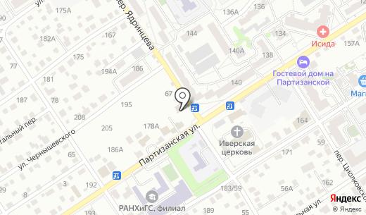 Мастерс. Схема проезда в Барнауле