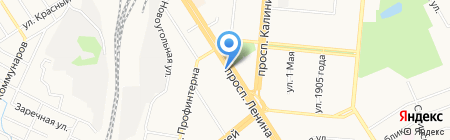 Удар на карте Барнаула