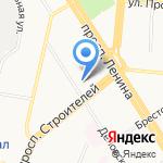 Полония на карте Барнаула