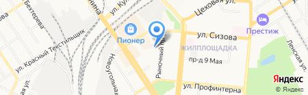 Афган на карте Барнаула