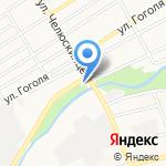 Магазин автотоваров на карте Барнаула