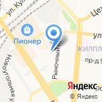 Магазин сантехники и лакокрасочных материалов на карте Барнаула