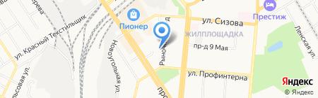 Мастерская по резке стекла и изготовлению ключей на карте Барнаула