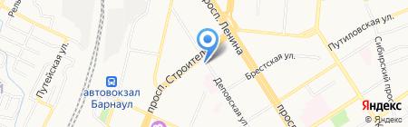 Виола на карте Барнаула
