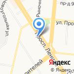 Ирбис на карте Барнаула