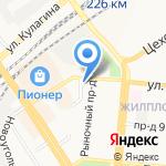Аллегро на карте Барнаула
