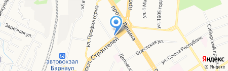 Ломбард Виолан на карте Барнаула