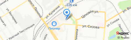 Восточный циклон на карте Барнаула