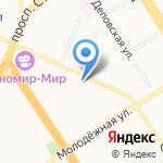 Жираф на карте Барнаула