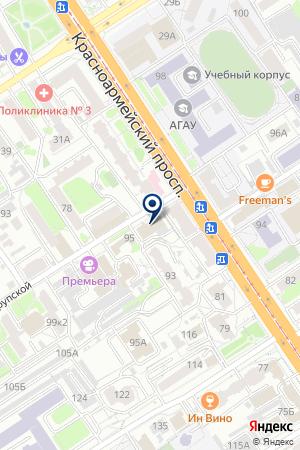 БАНК ЦЕНТРАЛЬНЫЙ БАНК РОССИЙСКОЙ ФЕДЕРАЦИИ на карте Барнаула