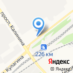 Арголит на карте Барнаула