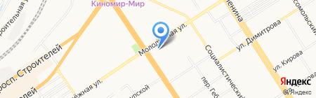 Микросервис на карте Барнаула