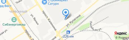 ТСС на карте Барнаула