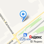Автокурьер на карте Барнаула