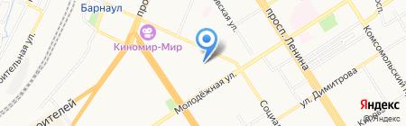 Детский сад №50 на карте Барнаула