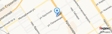 Де-Конс на карте Барнаула