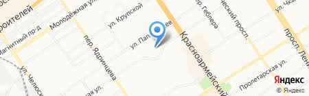 Лицей №122 на карте Барнаула