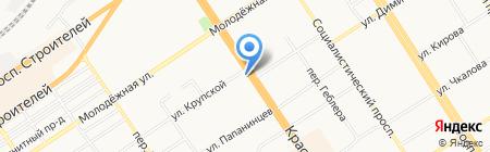 Блин-Картошка на карте Барнаула