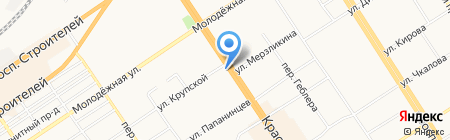 Tervolina на карте Барнаула