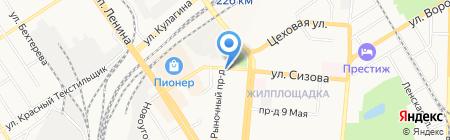 Торговая сеть по продаже кур-гриль на карте Барнаула