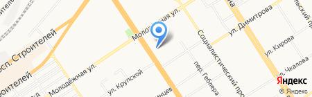 Банкомат АКБ Зернобанк на карте Барнаула
