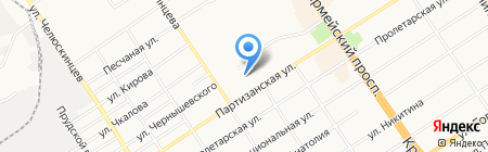 Ануша на карте Барнаула