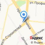 Сеть салонов-магазинов тканей и швейных машин на карте Барнаула